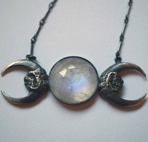 fashion white style moon dark Clothes nature stuff Magic lightning instagram Witch accessories necklace glow mystery pale