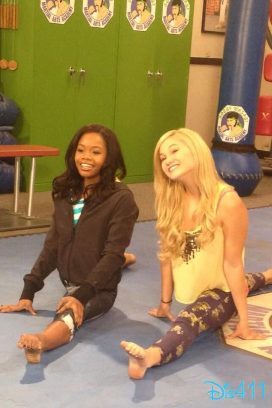 Olivia Holt Grabbed A Drink From Urth Cafe And Posted A Nice Pic Of Herself And Gabby Douglas April 12, 2013