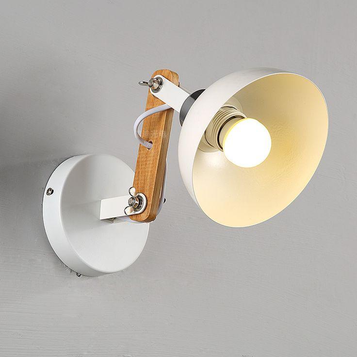 Nordic Современный Минималистский Американский Творческий Проходу Лестницы железа бра для Спальни Прикроватная Лампа E27 железное дерево лампы A92купить в магазине Y3 lighting StoreнаAliExpress