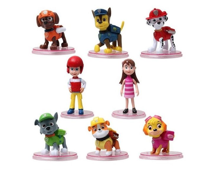 Paw Patrol CAKE TOPPER Ryder Katie Marshall Chase Skye Rubble Rocky Zuma 8 Figure Set Birthday Party Cupcakes Figurines * FAST Shipping * by BiancasBoutiqueBows on Etsy https://www.etsy.com/listing/238819332/paw-patrol-cake-topper-ryder-katie