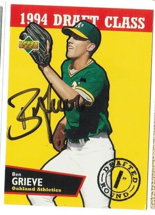 Ben Grieve Oakland Athletics Autographed 1994 Upper Deck Card
