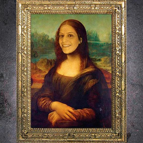 Custom Mona Lisa Digital Portrait From Your Photo by dasfolDesign