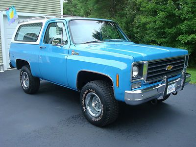 what does a k 5  cheve truck  look like | 1976 Chevy Truck/ K-5 Blazer Custom Deluxe 350 / 4x4 One Owner Nice 87 ...