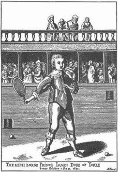 Hand-ball (jeu de paume in French) was played by the Greeks and the Romans, and by even earlier civilizations