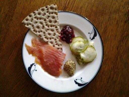 Svensk sommar mat.