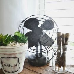 See how to turn a vintage fan into a lovely bronzed beauty to decorate any room in your home.