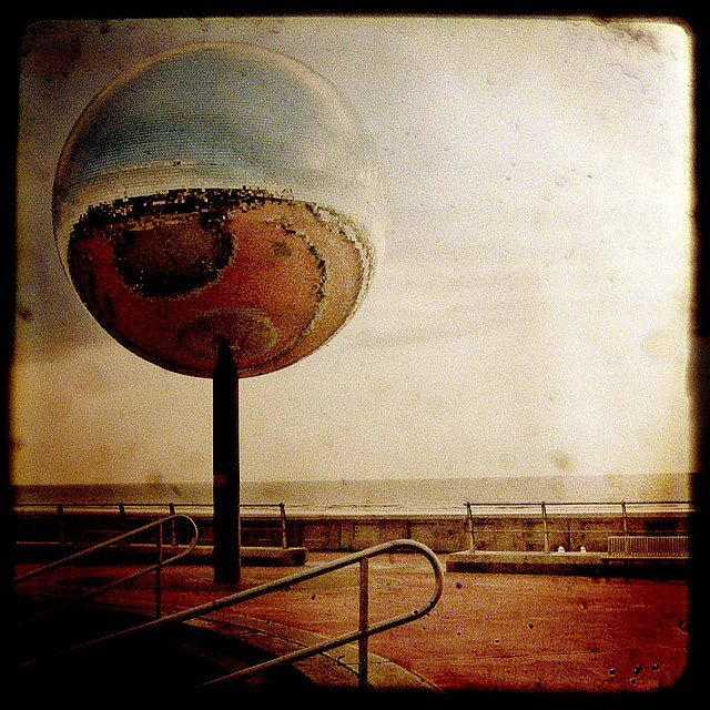 Disco ball, Blackpool seafront
