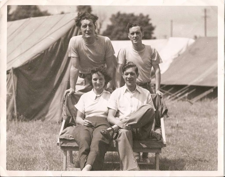 Back row, my Dad's cousin Arthur and his friend Tommy Bott. Sitting are my auny Peggy and my uncle (dad's brother) Bert Wass. Southend on Sea late 1940s.