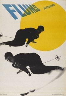 #vintage ski poster - Foto: Museum für Gestalltung Zürich und natürlich Skifahrer (1940)