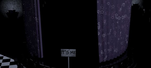 13 Rare Five Nights at Freddy's Screens You May Not Have Seen - Five Nights at Freddy's // 'It's me' sign in Pirate Cove (Cam 1C)