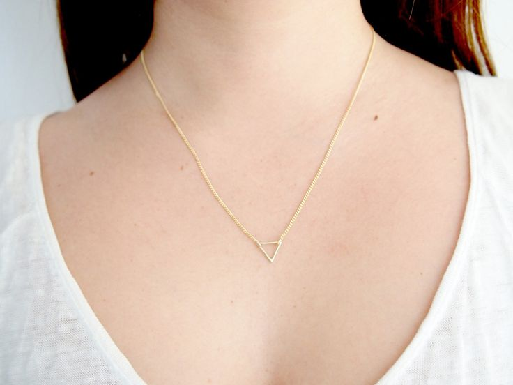 Tiny Triangle Necklace $190 - gold