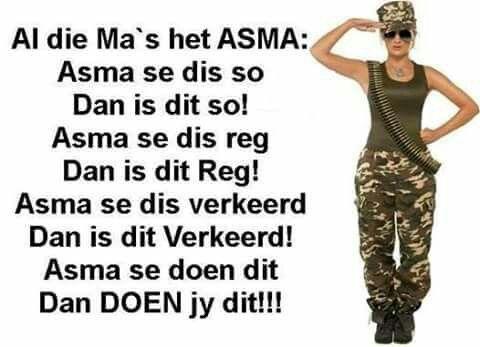 Al die Ma's het ASMA:
