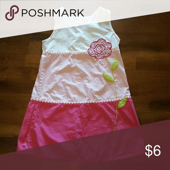 Zoey girls summer dress Girls summer dress, pink and white with a flower design, really cute. Zoey Dresses Casual