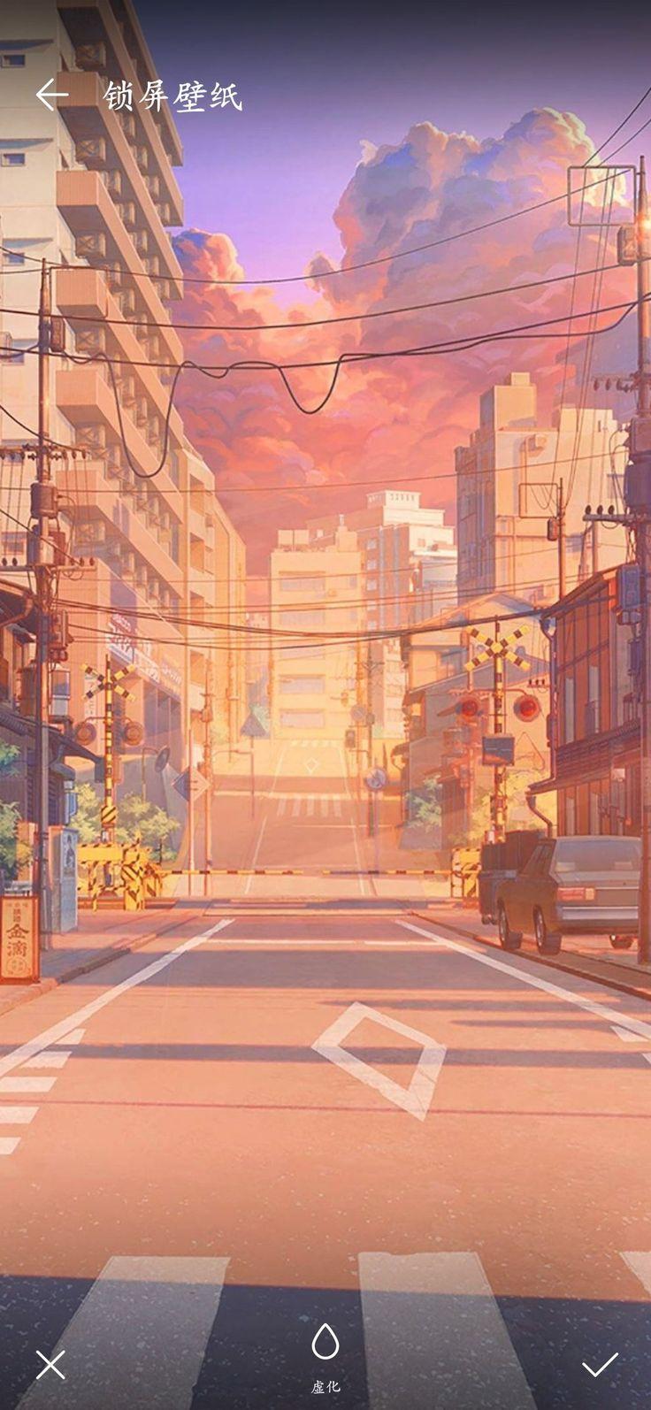 Pin oleh Hạ Vũ di • Illustration • Pemandangan anime