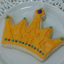Yellow Kitchen Cookies - crown cookie. Princess cookie, prince cookie