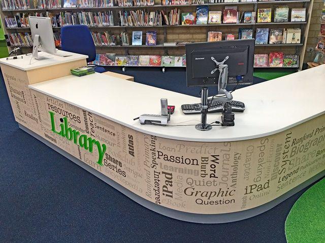 Library furniture - circulation desk