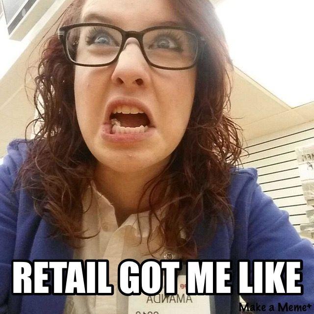 Retail humor.