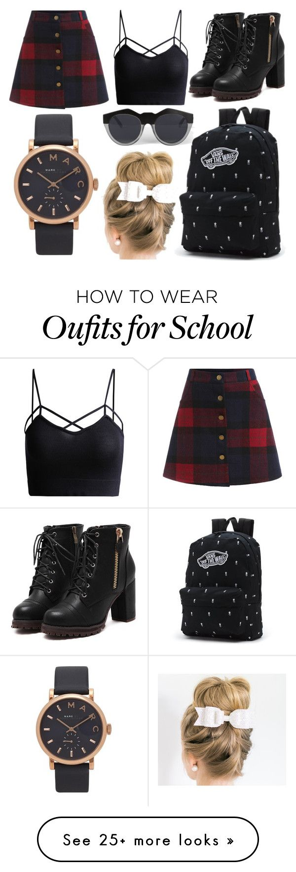"""School Day"" by susanna-trad on Polyvore featuring Le Specs, Vans and Marc Jacobs"