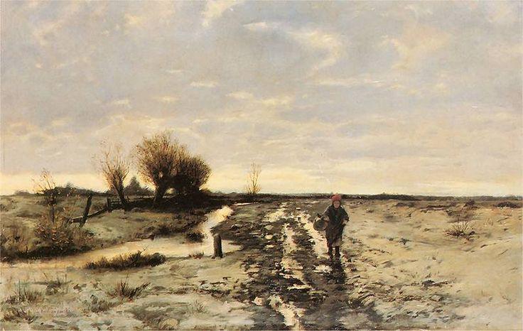 Roman Kochanowski - Przedwiośnie (Roztopy) 1890. Olej na płótnie. 43 x 64 cm. Własność prywatna.