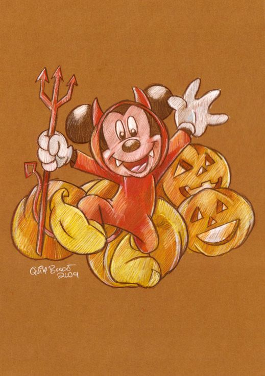 O Tapete Vermelho da Imagem: Images' Red Carpet: O Rato Mickey festeja o Dia das Bruxas / Mickey Mouse on Halloween