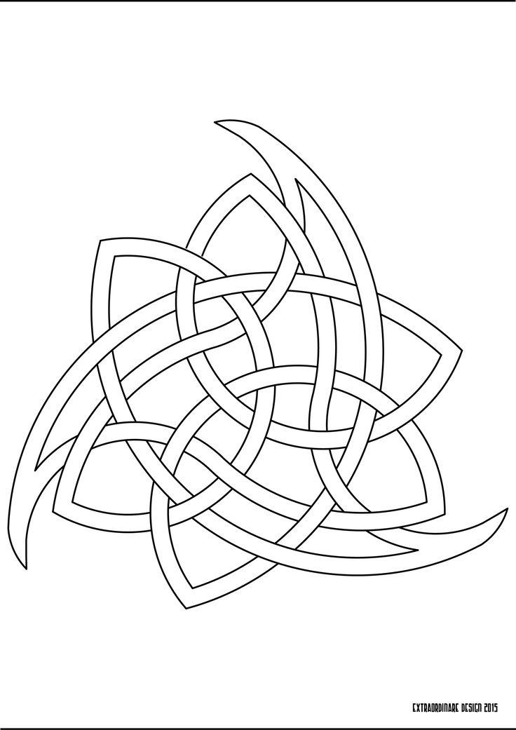 Celtic triangular knot
