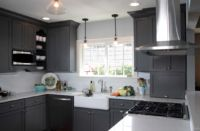 Modern Kitchen Cabinets Grey with Many Advantages
