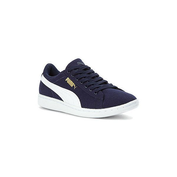 PUMA Womens Vikky Canvas Sneaker Athletic ( 60) ❤ liked on Polyvore  featuring shoes 1e1c48e60