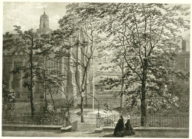 Fountain Court & Hall in 1857
