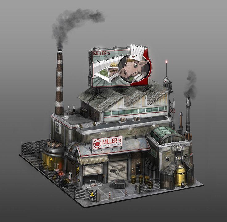 Anno 2070: Tycoon buildings, Tobias Frank on ArtStation at http://www.artstation.com/artwork/anno-2070-tycoon-buildings