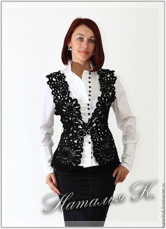 Купить Черный Лебедь - черный, ирландское кружево, ирландское вязание, кружево, кружева, черный цвет