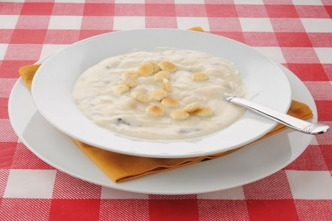 Slow Cooker Oyster Soup - Easy and Delicious!  www.GetCrocked.com
