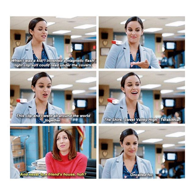 Amy and Gina. Brooklyn Nine Nine