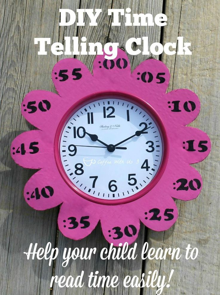 DIY Time Telling Clock helps teach children to read time easily!