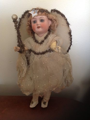use this as inspiration this christmas in creating angels out of old dolls -antique Christmas angel