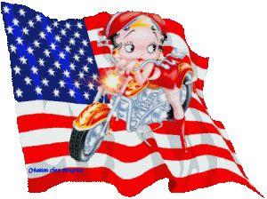 Betty Boop Free Animated Wallpaper screensavers | Betty Boop Patriotism Animated Gifs
