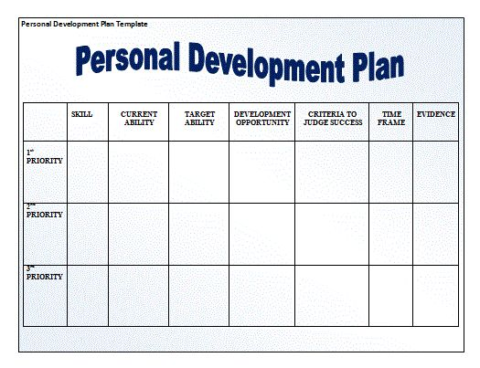 Design A Template For A Personal Development Plan | Home Design