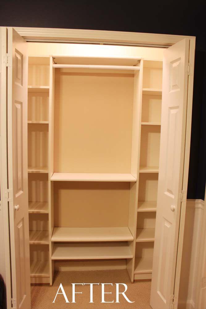 Peach Street's Blog: Our Under $100 Closet System - IKEA Hack