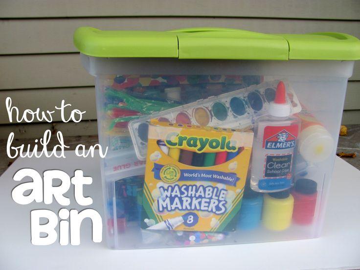 How to build an art bin