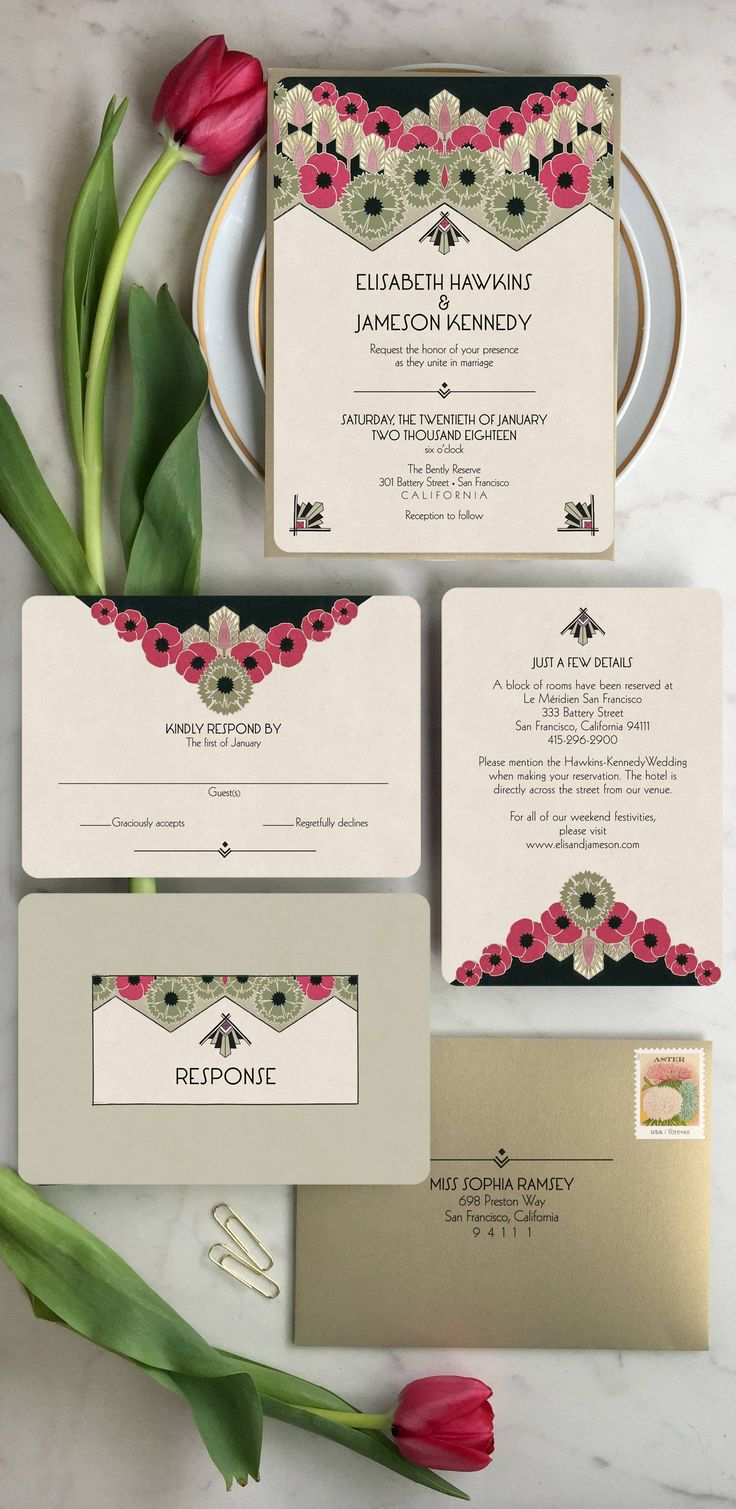 Art Deco wedding invitations for you The