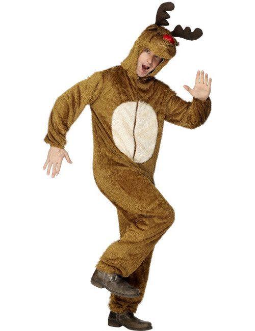 Rentier Jumpsuit-Kostüm Weihnachten braun-weiss aus der Kategorie Karnevalskostüme / Weihnachtskostüme. Was wäre der Weihnachtsmann ohne sein treues Rentier Rudi? Die rote Nase gibt es hier schon vor dem ersten Glühwein!