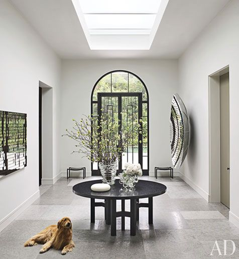 Love this entrance. Bay area. Steven Volpe, Interior Decorator and Lewis Butler, Architect.