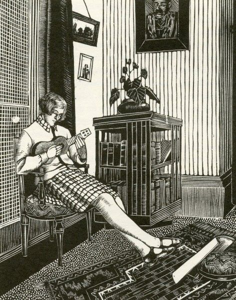 'Betty' by Tirzah Ravillious (née Garwood), 1927 (wood engraving)