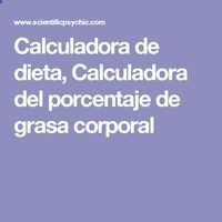 Calculadora de dieta, Calculadora del porcentaje de grasa corporal