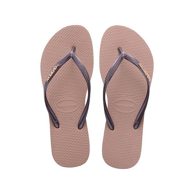 Flip Flops Havaianas Women Slim Logo Metallic for women   Official Havaianas® shop