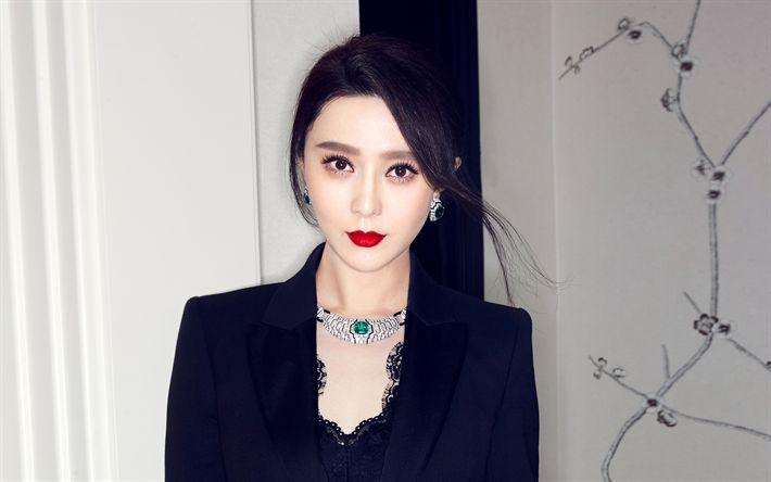 Descargar fondos de pantalla Fan Bingbing, 2017, la actriz china, retrato, belleza