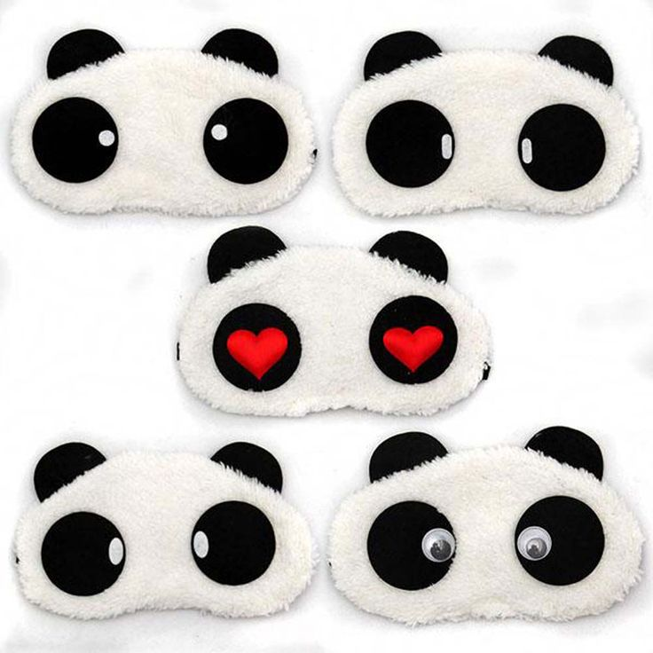 1 pcs Tidur Masker Mata Lucu Panda Tidur Siang Warna Mata Kartun penutup mata Tidur Masker Penutup Mata Tidur Aid Travel Istirahat Santai alat