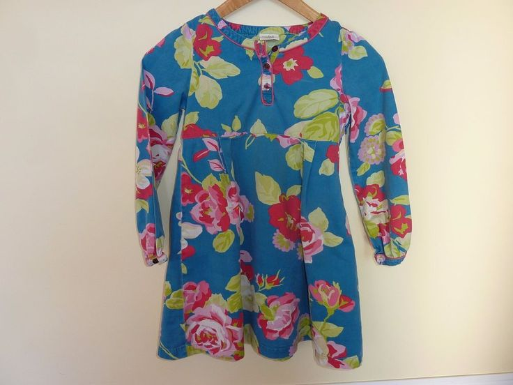 MINI BODEN GIRLS FLORAL BRUSHED COTTON LS DRESS~EXCELLENT CONDITION~SIZE 7/8 #MiniBoden #DressyEveryday