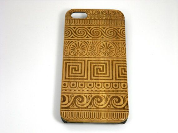 Greek Pattern iPhone 5C Bamboo Case. Grecian Fret by iMakeTheCase