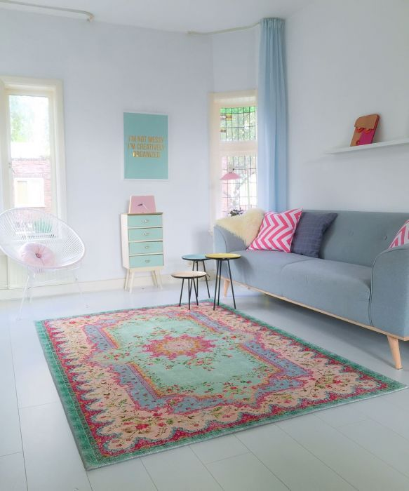 replica vintage vloerkleed 225cm x 155cm | Rozenkelim.nl - Groot assortiment kelim tapijten