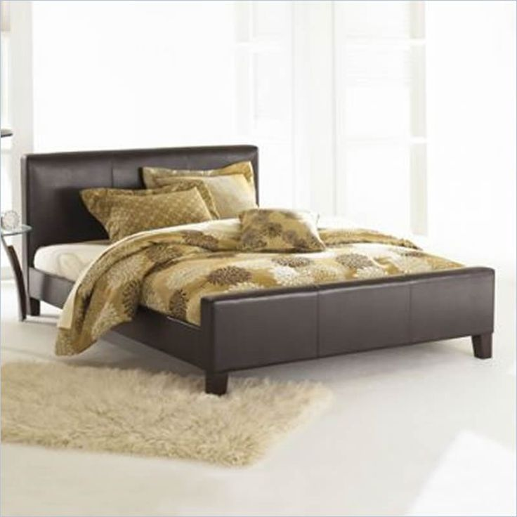fashion bed euro sable leather platform bed